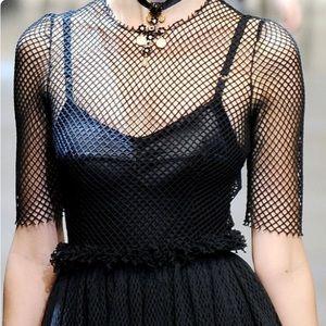Fishnet Short Sleeve Top